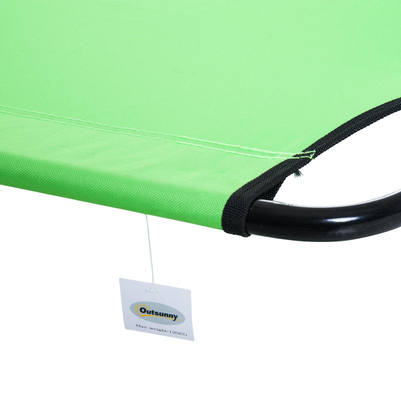 miniatura 29 - Silla Reclinable Plegable Tumbona Reclinable Jardín Al Aire Libre Portátil Asiento Cama