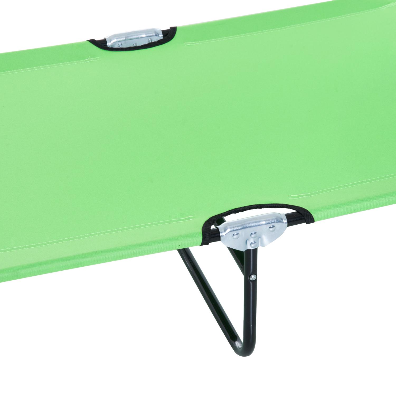 miniatura 31 - Silla Reclinable Plegable Tumbona Reclinable Jardín Al Aire Libre Portátil Asiento Cama