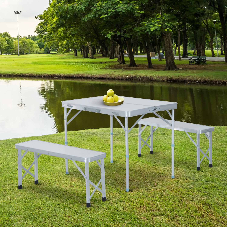 - Outsunny Folding Picnic Table Bench Outdoor Garden Patio Camping