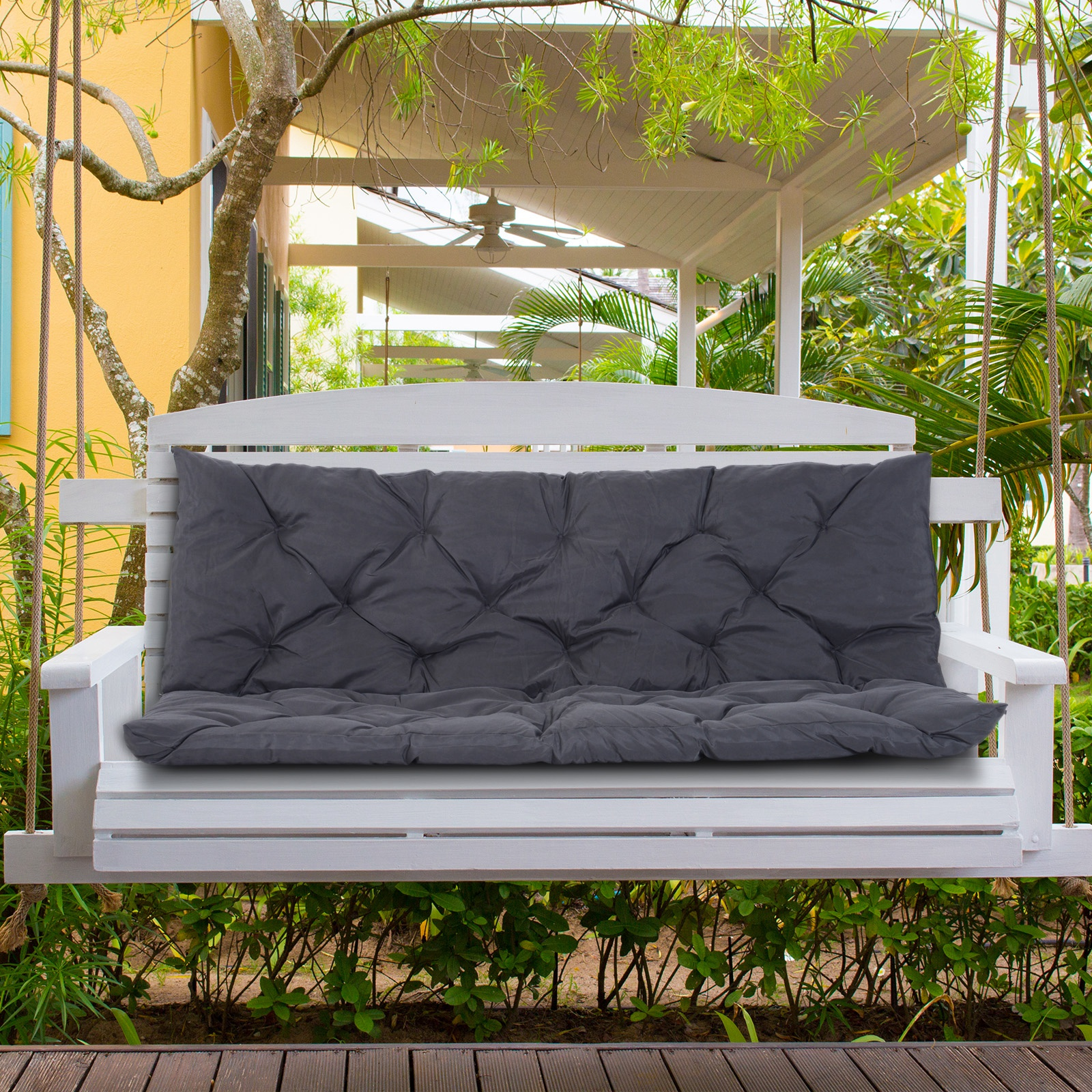 3-Seater-2-Seater-Bench-Swing-Seat-Cushion-ONLY-Garden-Furniture-Pad-Backrest thumbnail 18