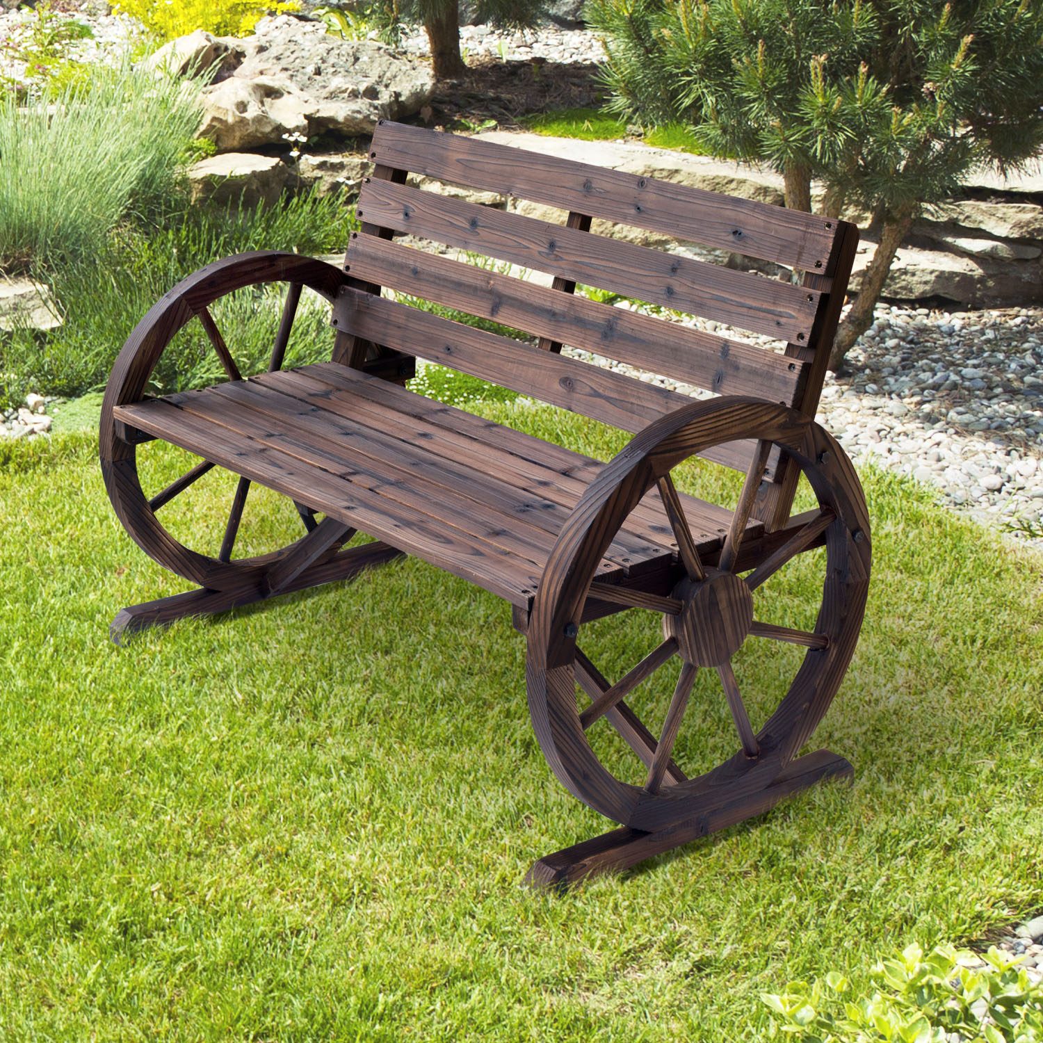 forever benches to wagon bench wheel the built decades woodworking last redwood