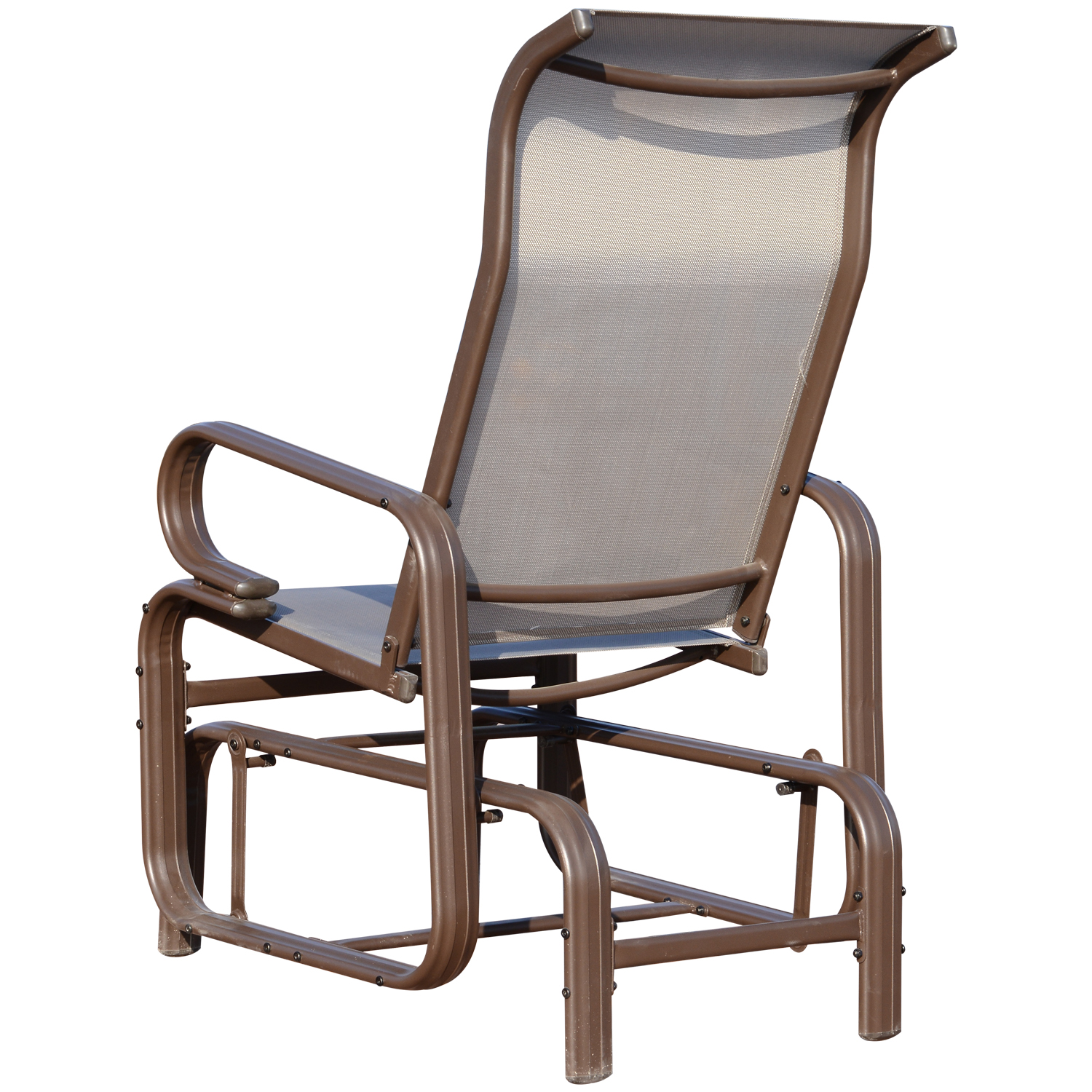 Outsunny Texteline Glider Chair Garden Swing Seat Outdoor ...