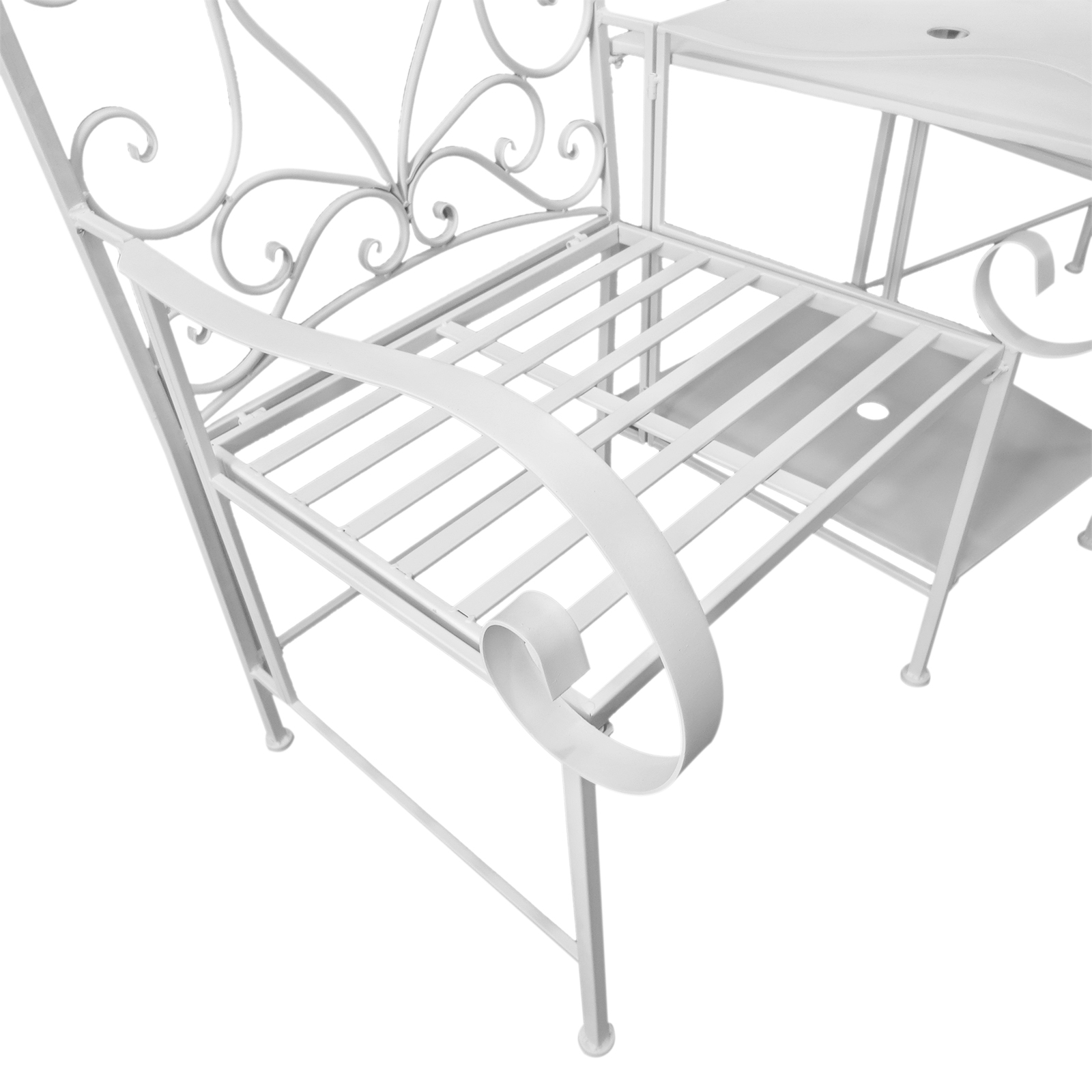 Metal Chair Outdoor Garden Bench Middle Small Table High