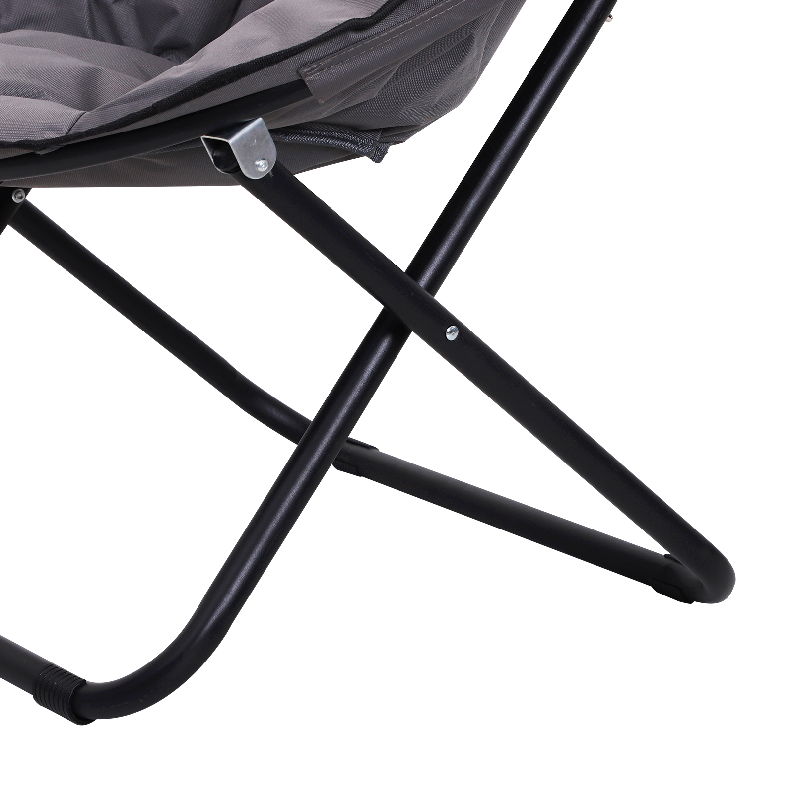 Folding Saucer Moon Chair Oversized Padded Seat Round