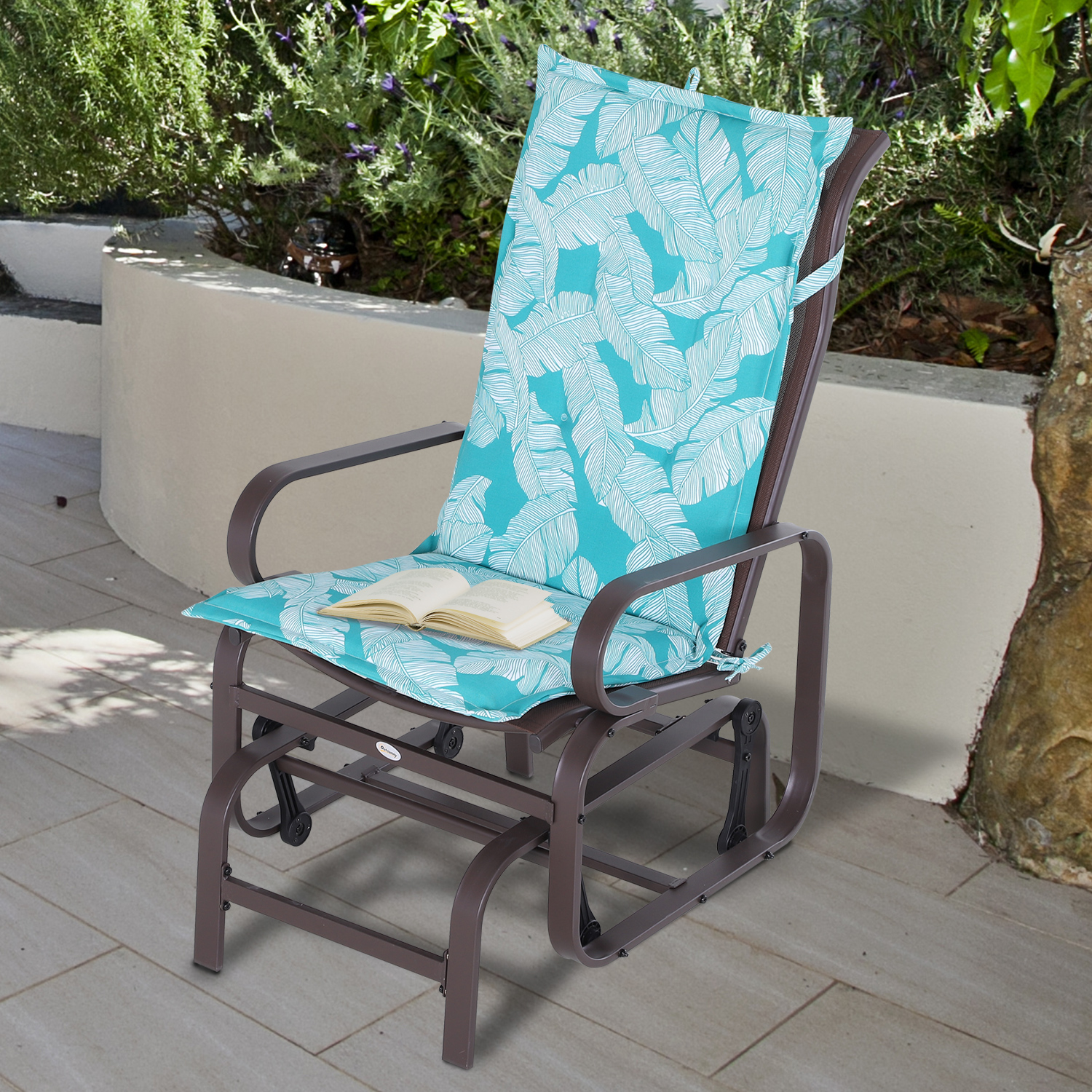 Outsunny 2-PC Patio Chaise Lounger Cushion Recliner ...