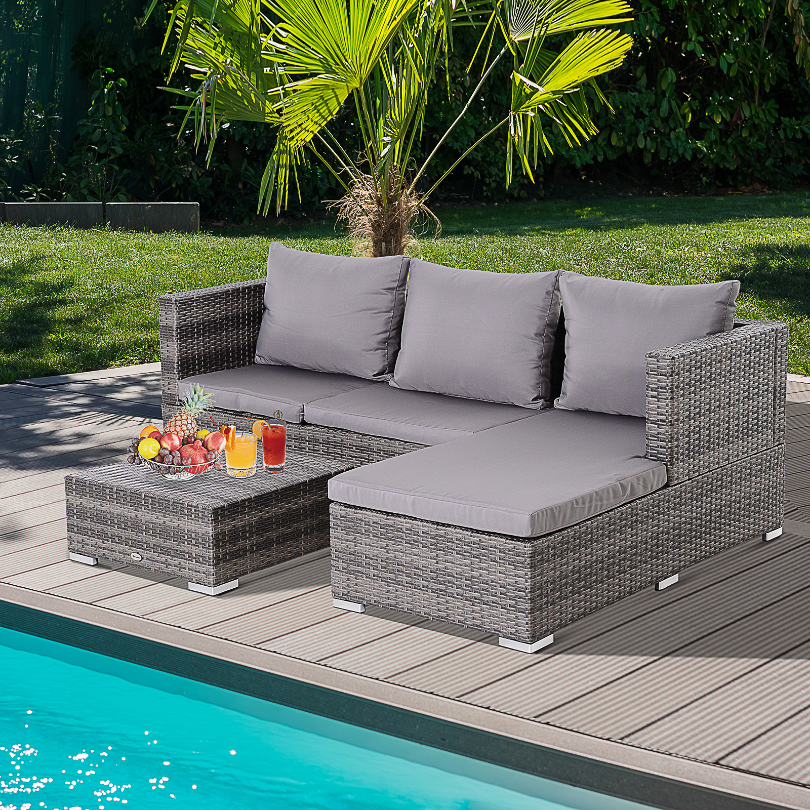 Better Homes And Gardens Replacement Cushions Azalea Ridge, Outsunny Rattan Garden Sofa Set Storage Table Wicker Patio Lounger 4 Seater Grey Ebay