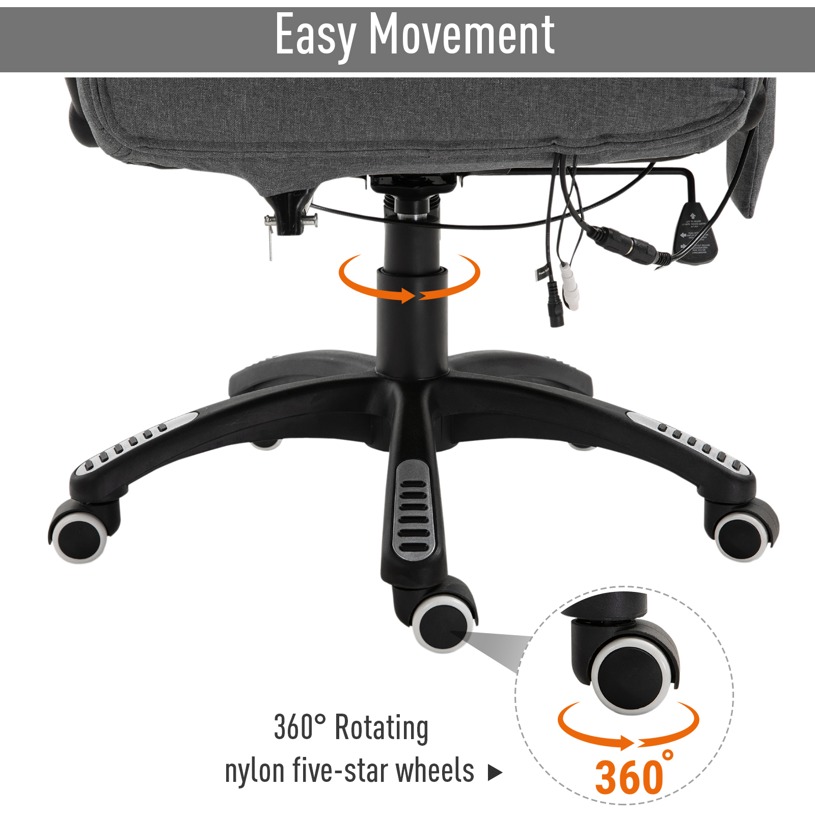 thumbnail 17 - Executive Reclining Chair 130°w/6 Heating Massage Points Relaxing Headrest