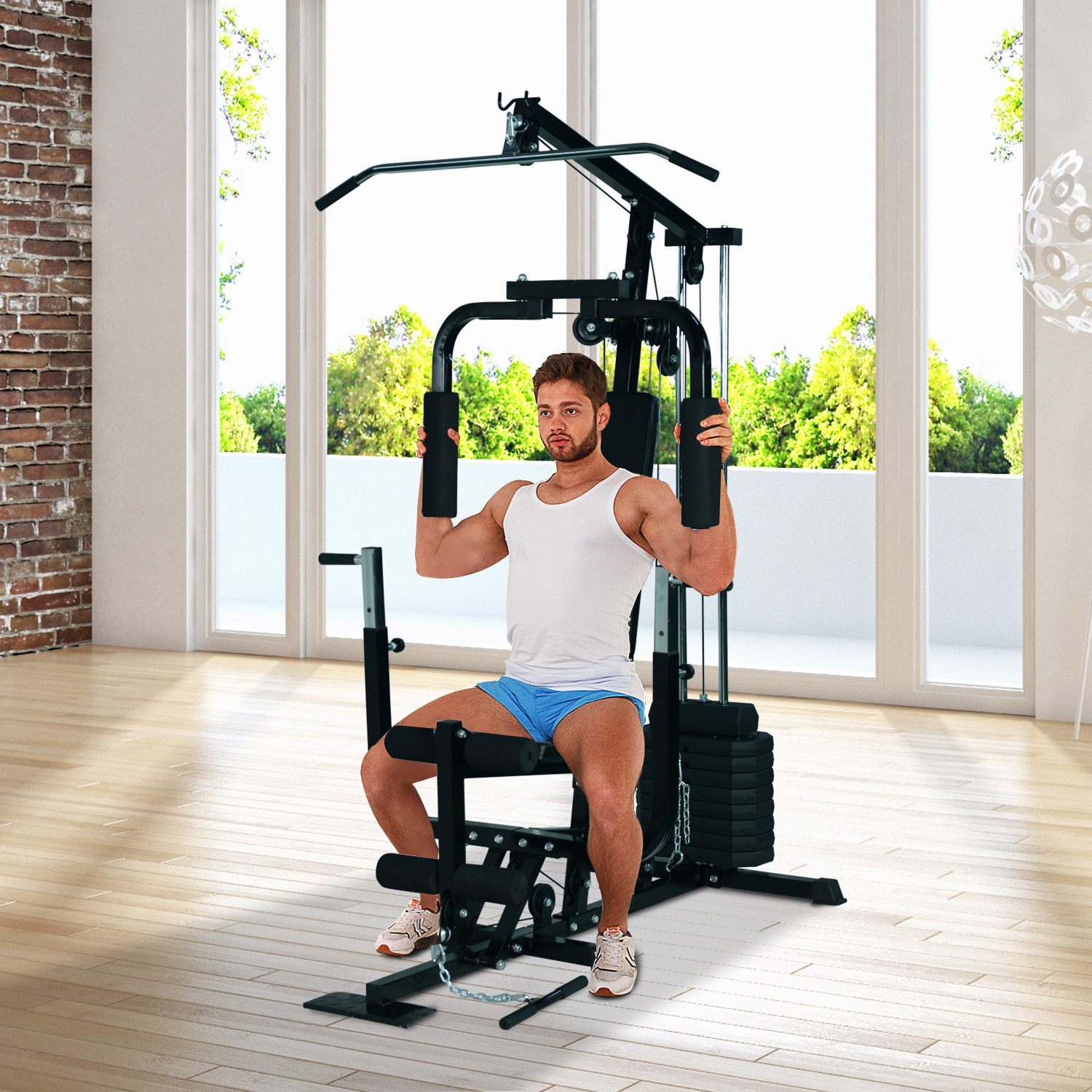 HOMCOM Multi Gym Workout Station Home Fitness Body