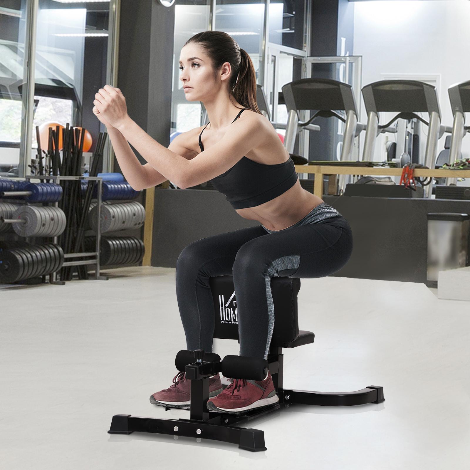 Macchina squat a corpo libero homcom acciaio 50x97x45,5-57,5cm - home gym ITA91-0690631