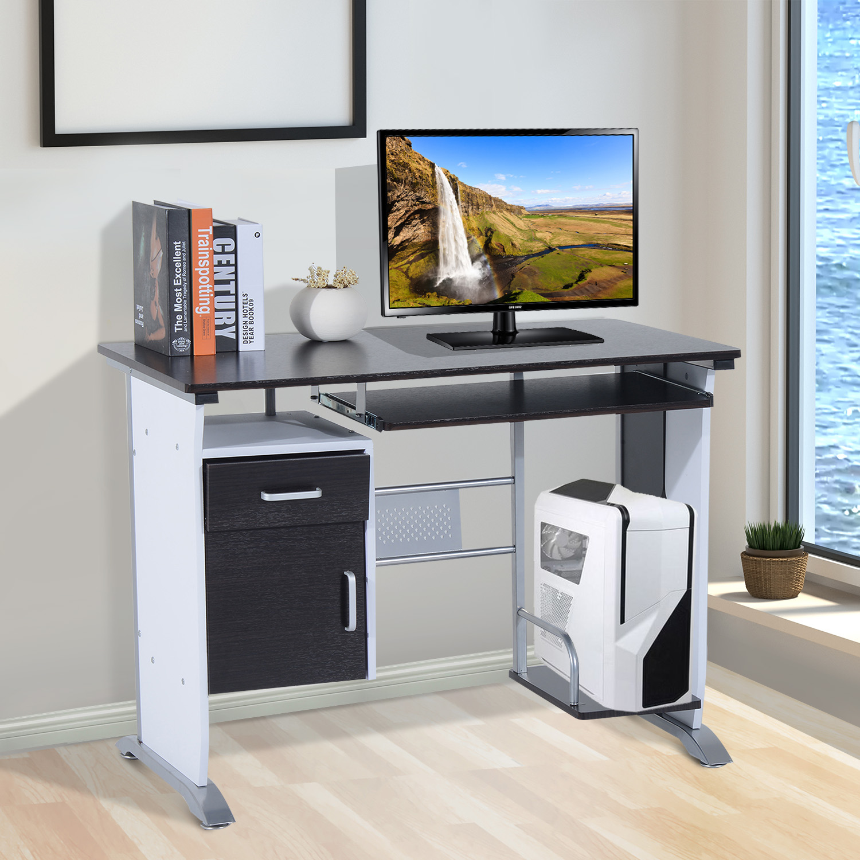 Computer Desk Workstation Table Sliding Keyboard Shelf