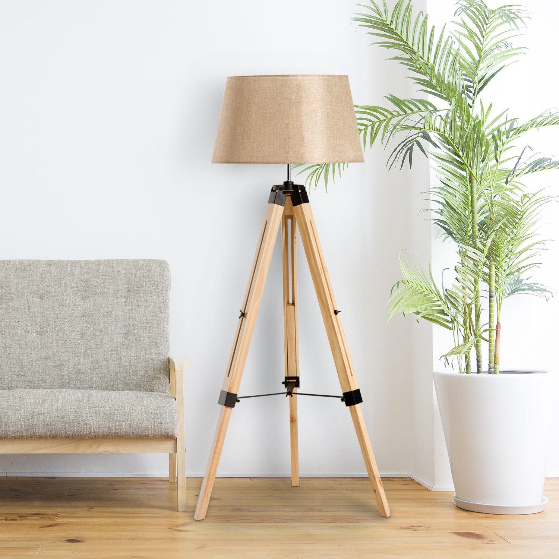 Narrow Oak Floor Lamp | Etsy