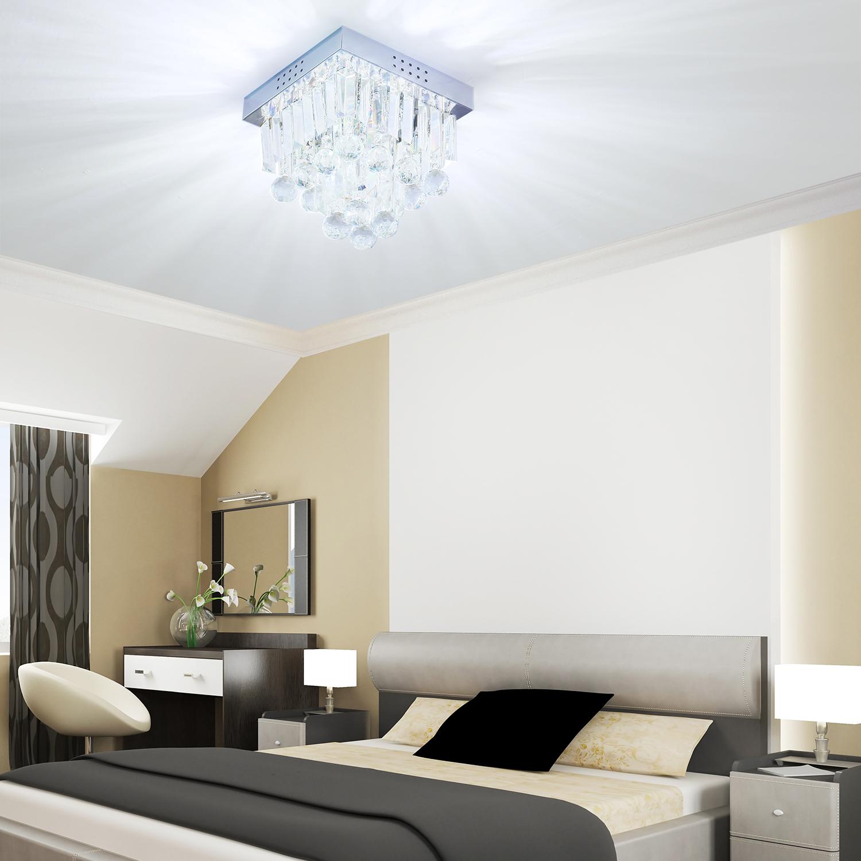 Homcom Modern Crystal Pendant Lamp Ceiling Light Fixture Chandelier