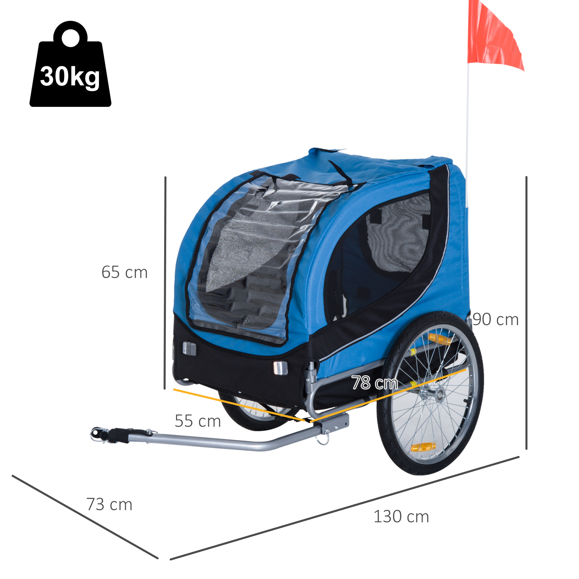 Pet Dog Bike Trailer Stroller Hitch Step Removable Cover ...
