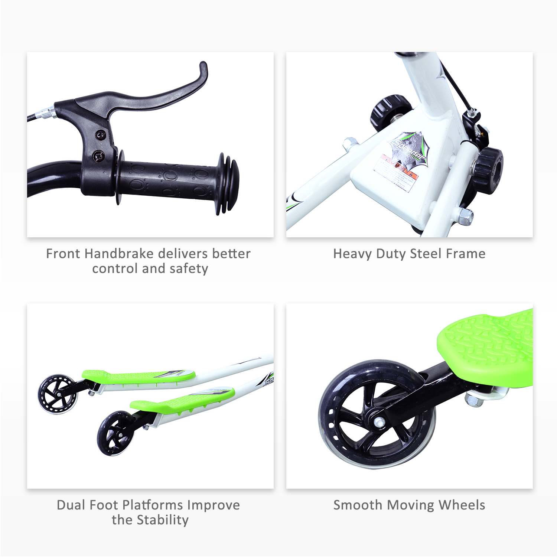 Kids-3-Wheels-Speeder-Scooter-Tri-Slider-Winged-Push-Motion-Children-Adjustable thumbnail 14