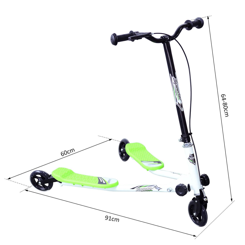 Kids-3-Wheels-Speeder-Scooter-Tri-Slider-Winged-Push-Motion-Children-Adjustable thumbnail 13