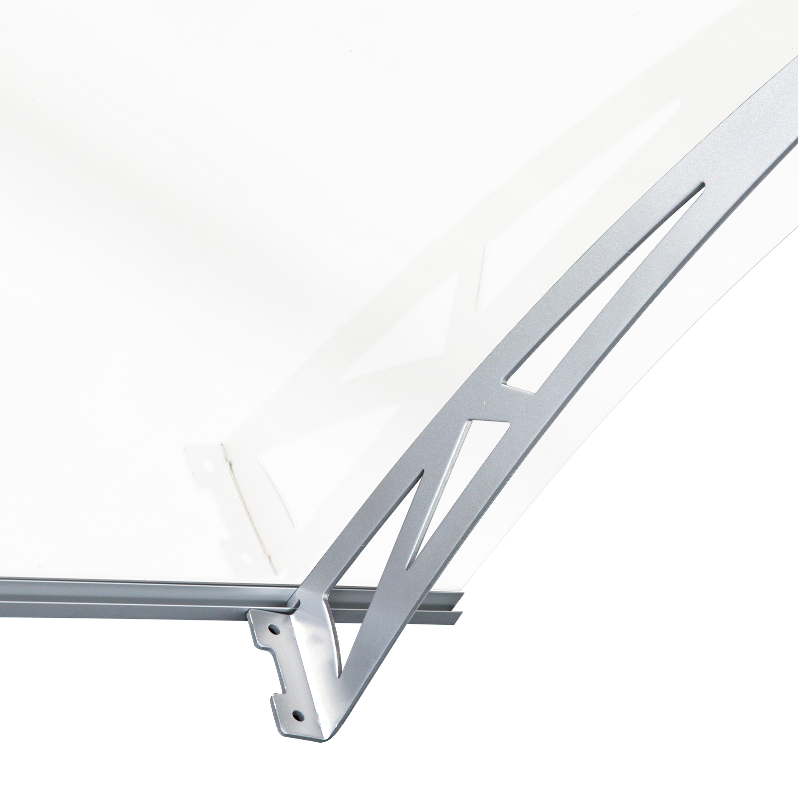 Outsunny Door Awning Porch Window Bracket Front Back Rain Cover 120 X 90cm 5055974886353 Ebay