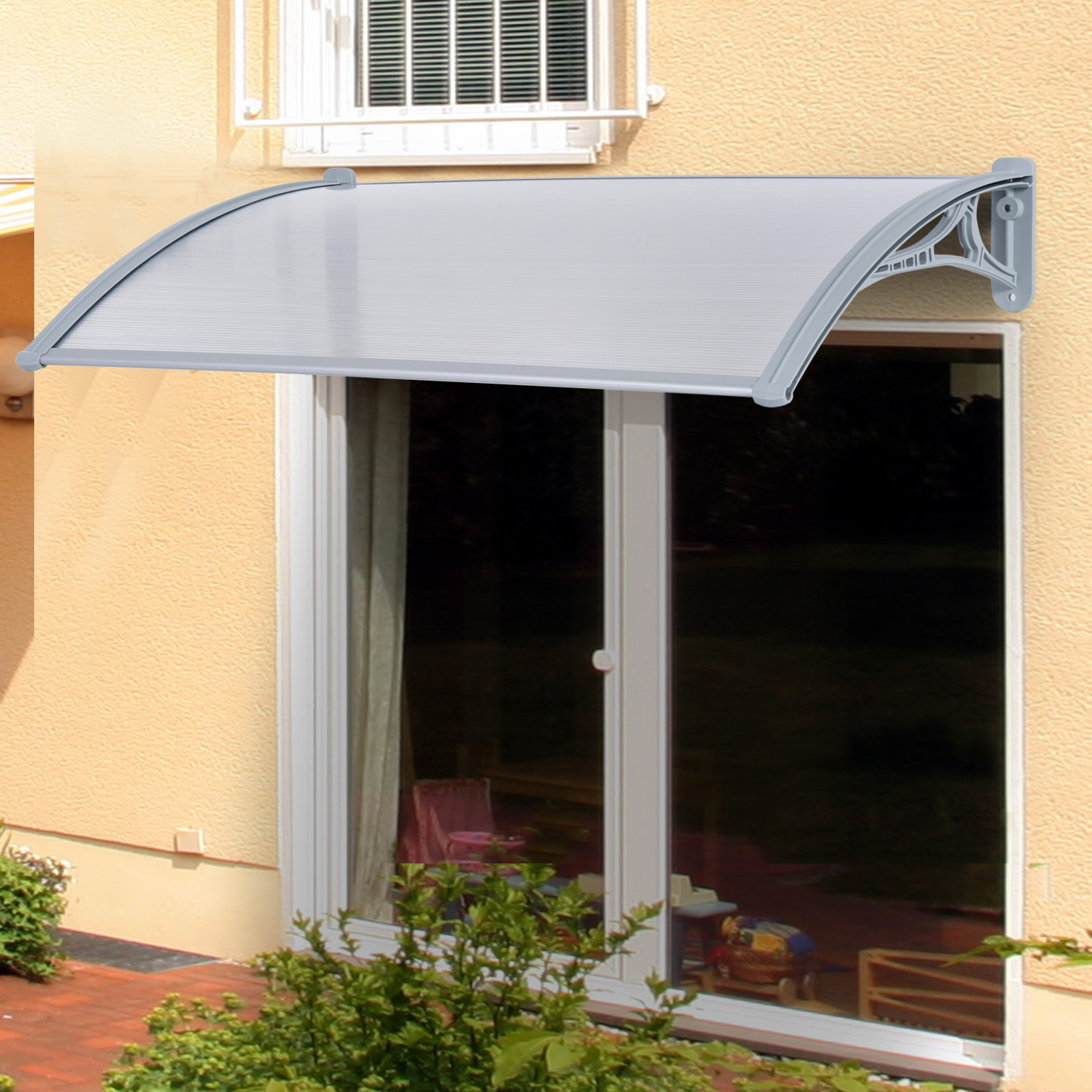 Outsunny Patio Door Awning Canopy Porch Window Front Back