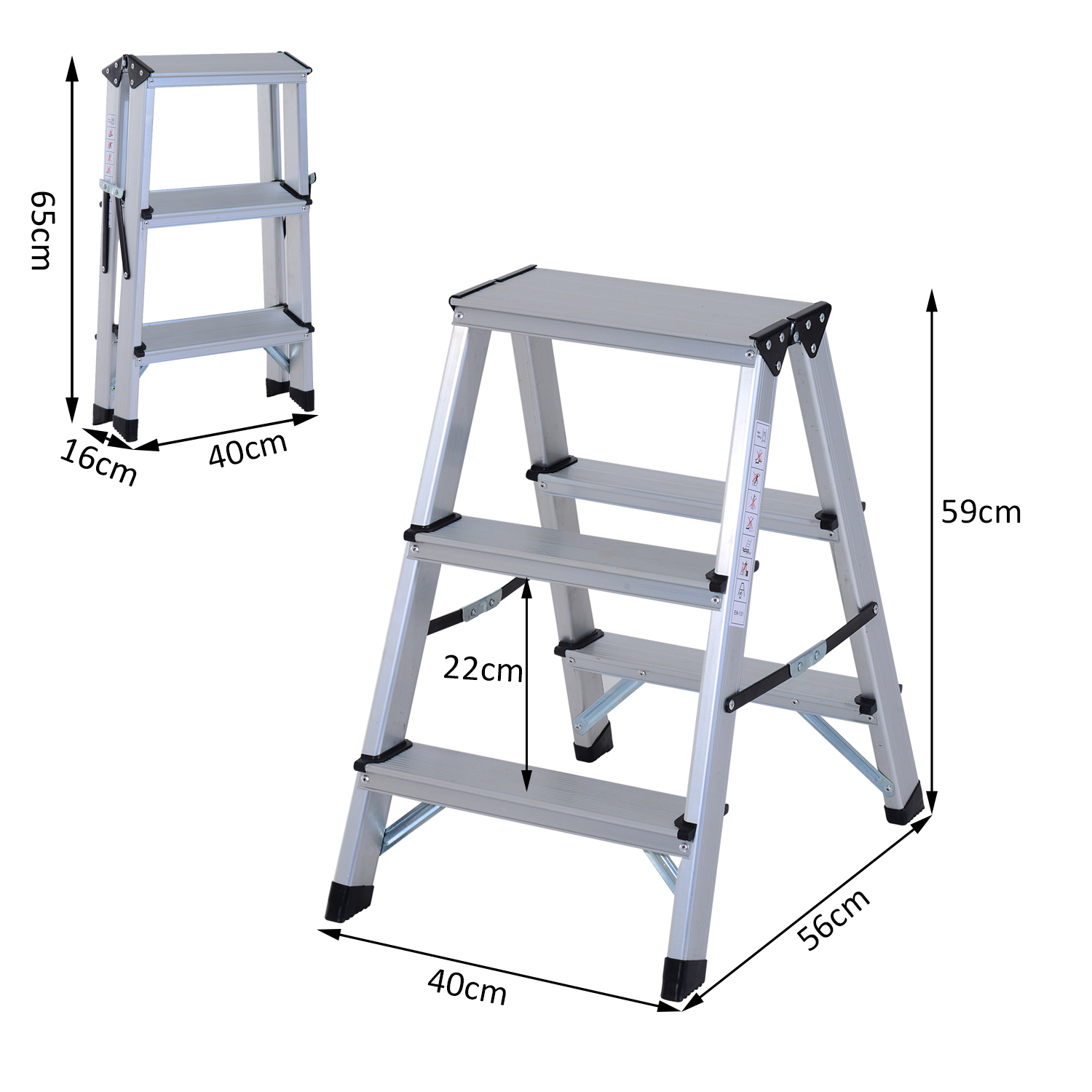 Foldable Aluminum Ladder A Type Multi Functional Folding