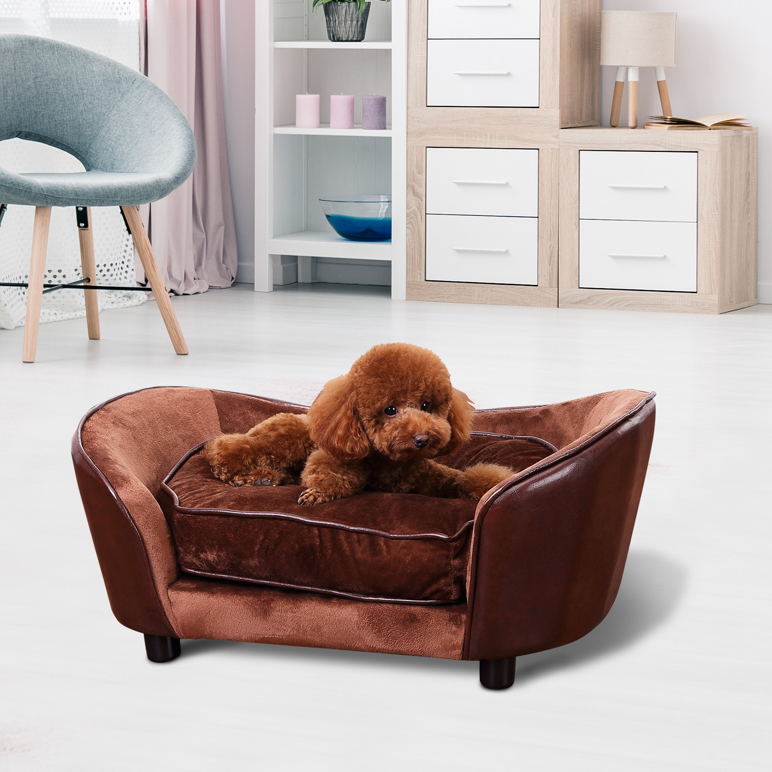 2 Size Pet Sofa Chair Dog Puppy Cat Kitten Soft Couch Bed