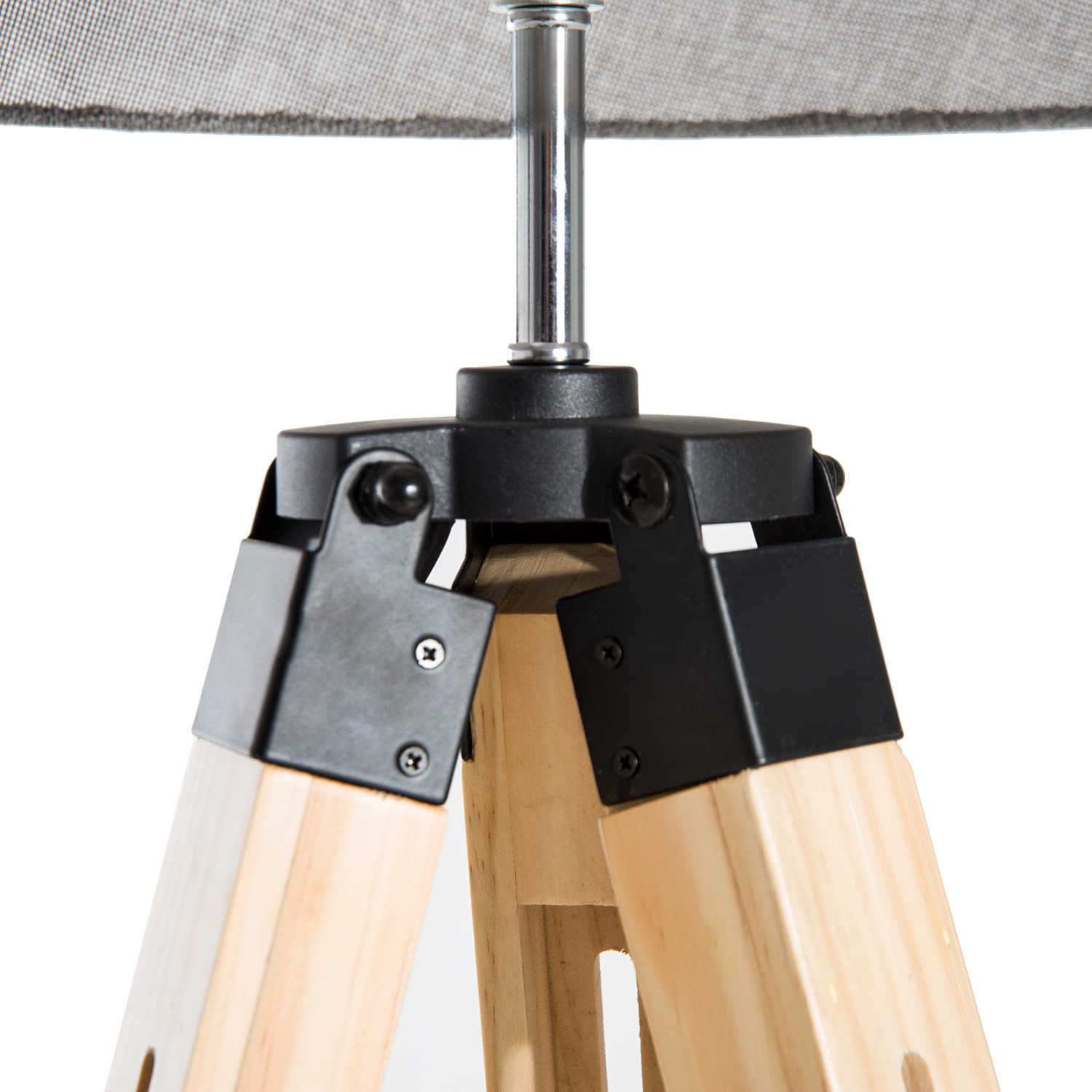 classic floor lamp light wooden tripod with adjustable height and foot switch ebay. Black Bedroom Furniture Sets. Home Design Ideas