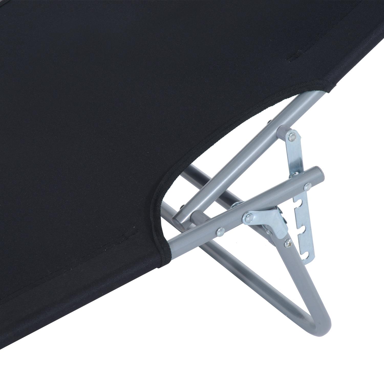 Reclining-Sun-Lounger-Chair-Folding-Recliner-Garden-Adjustable-Patio-W-Sunshade thumbnail 9