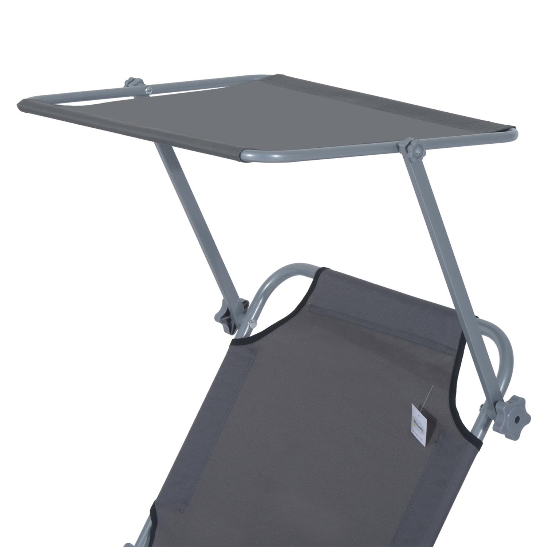 Reclining-Sun-Lounger-Chair-Folding-Recliner-Garden-Adjustable-Patio-W-Sunshade thumbnail 24
