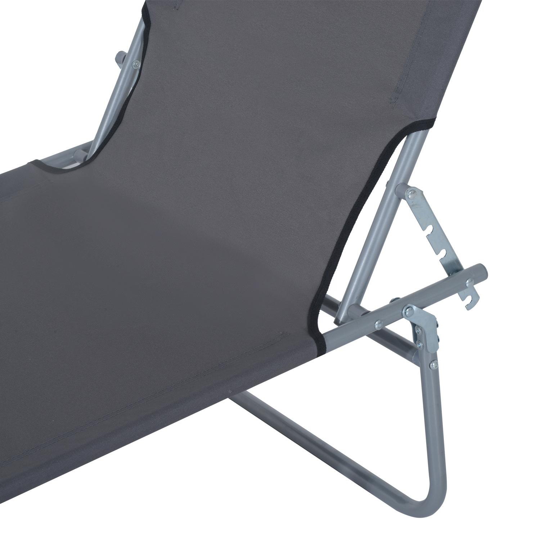Reclining-Sun-Lounger-Chair-Folding-Recliner-Garden-Adjustable-Patio-W-Sunshade thumbnail 25