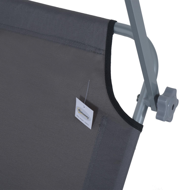 Reclining-Sun-Lounger-Chair-Folding-Recliner-Garden-Adjustable-Patio-W-Sunshade thumbnail 28