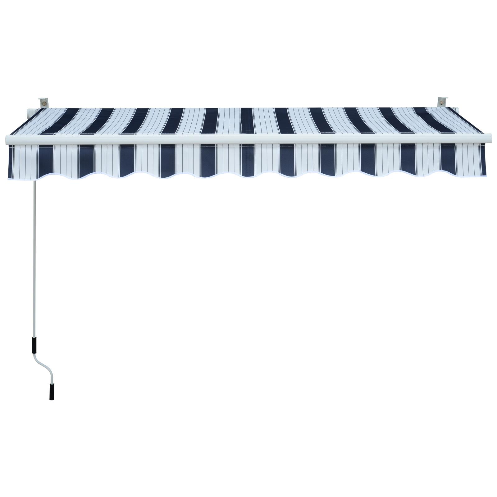 Garden-Patio-Manual-Awning-Canopy-Sun-Shade-Shelter-Retractable-4-Size-5-Colour thumbnail 4