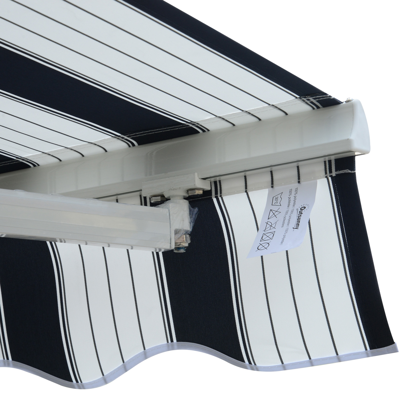 Garden-Patio-Manual-Awning-Canopy-Sun-Shade-Shelter-Retractable-4-Size-5-Colour thumbnail 8