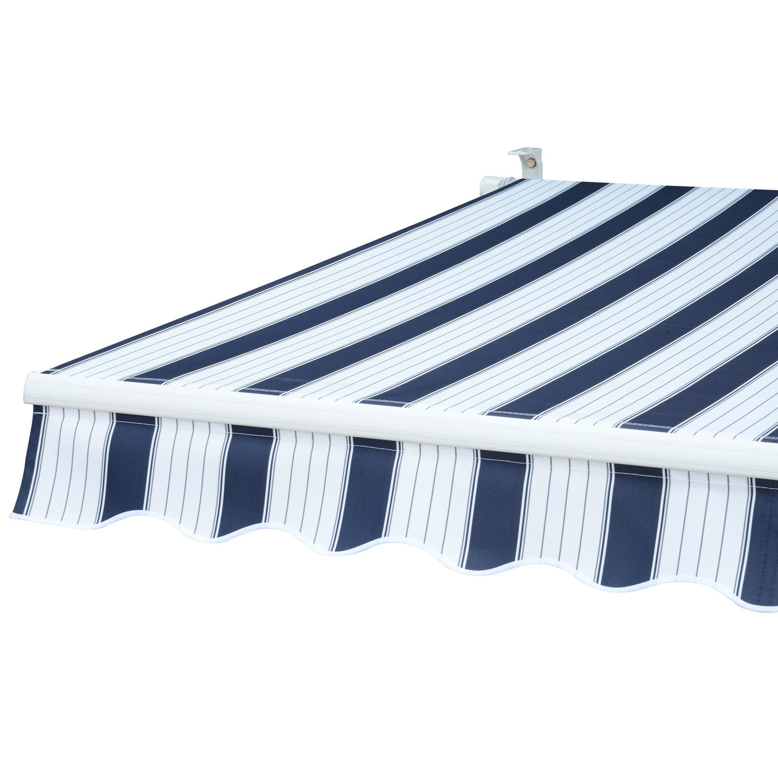 Garden-Patio-Manual-Awning-Canopy-Sun-Shade-Shelter-Retractable-4-Size-5-Colour thumbnail 9