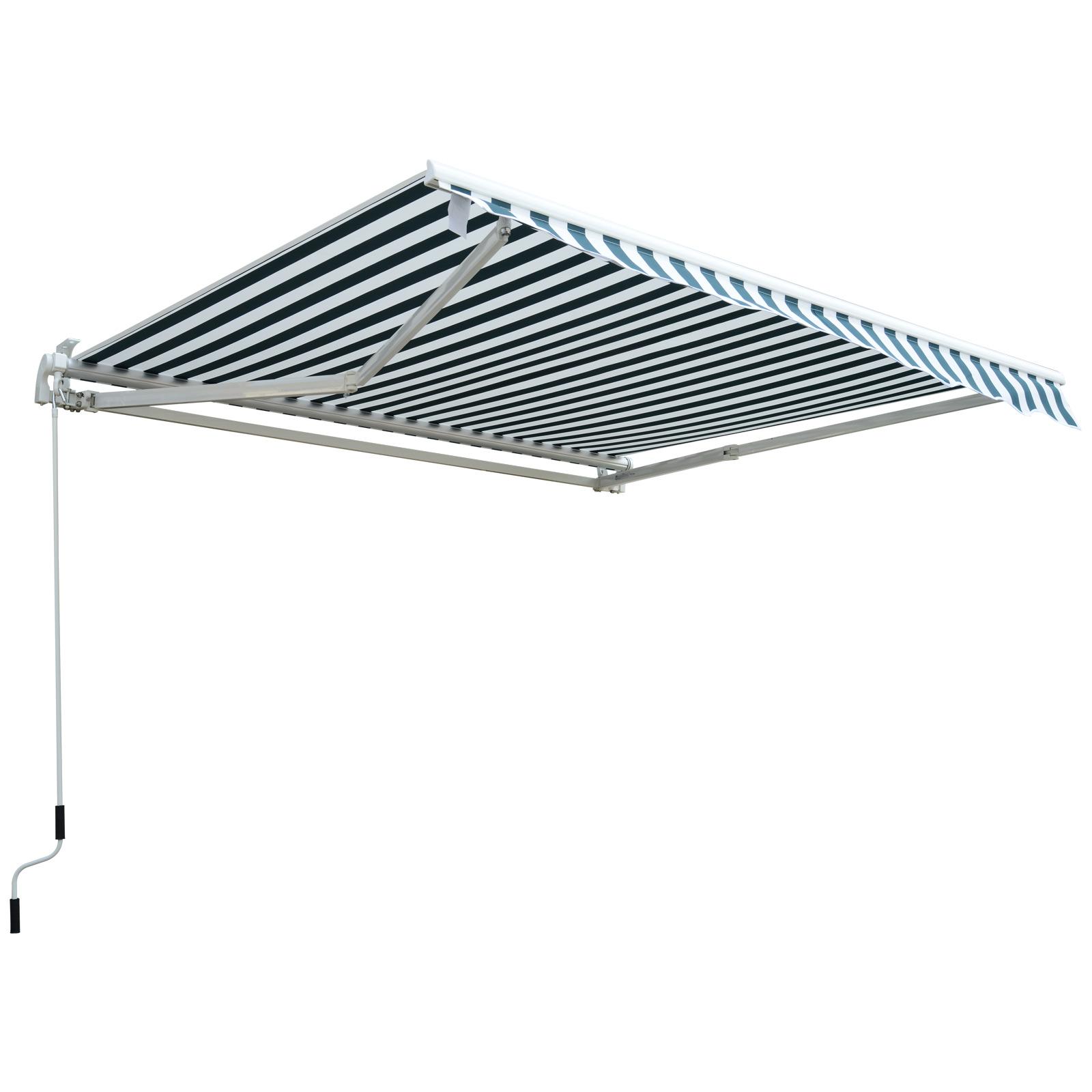 Garden-Patio-Manual-Awning-Canopy-Sun-Shade-Shelter-Retractable-4-Size-5-Colour thumbnail 22