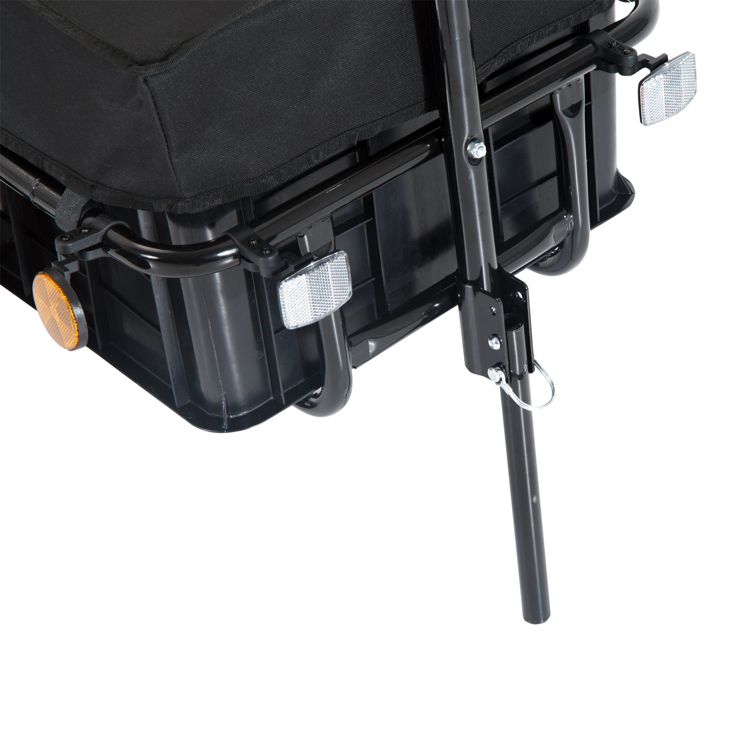 Aosom Enclosed Bicycle Cargo Trailer - Black Aosom Direct B71-005