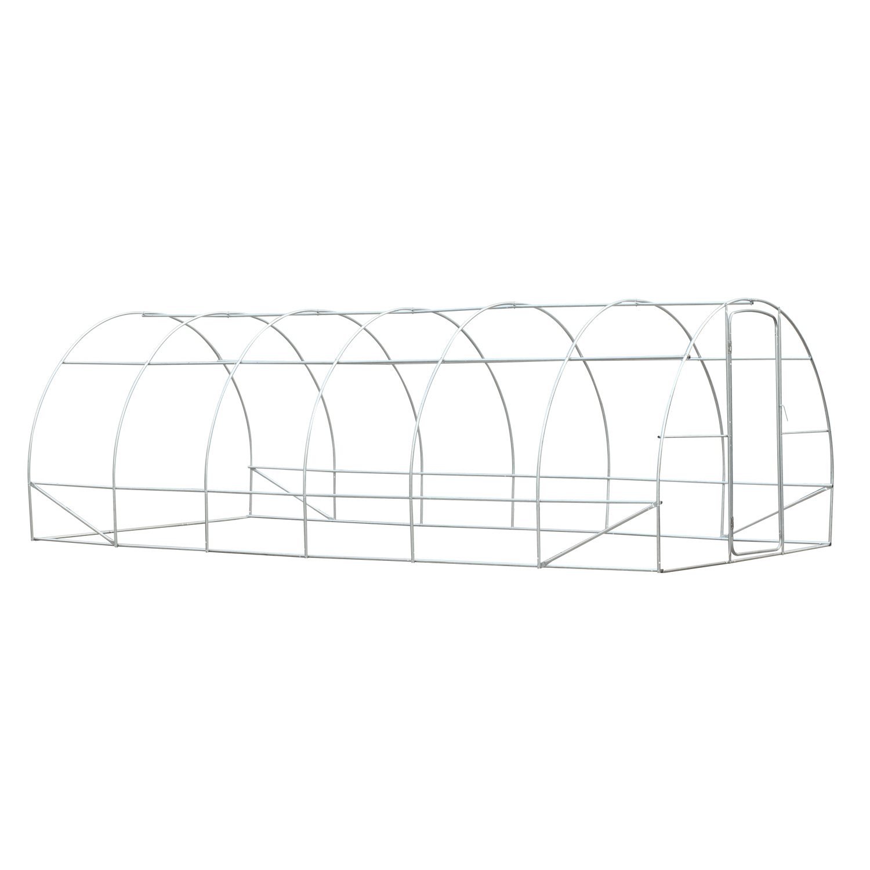 Reinforced Steel Walk In Polytunnel Greenhouse With Door