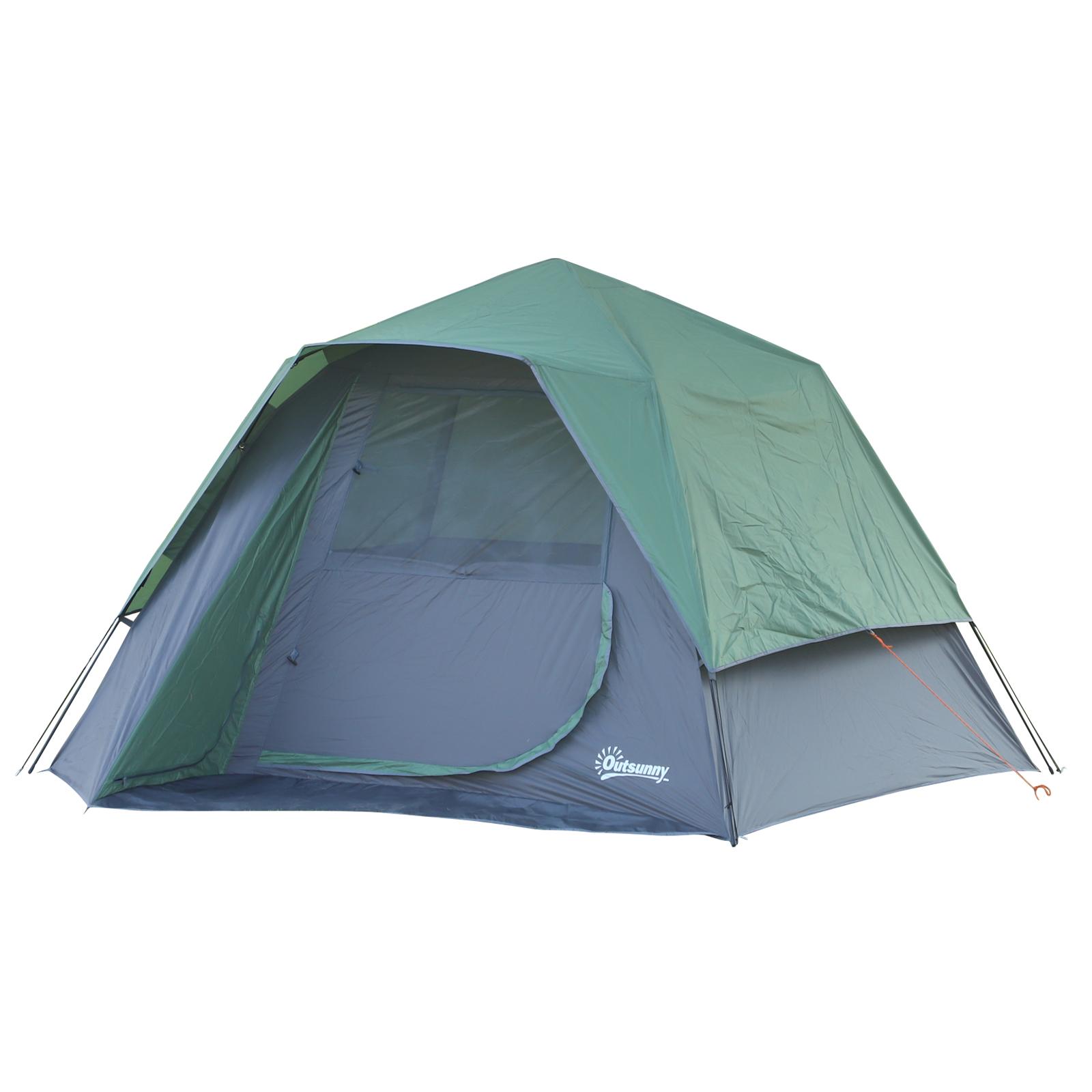 Mesa-Plegable-de-Camping-con-4-Asientos-y-Agujero-para-Sombrilla-Picnic-y-Playa