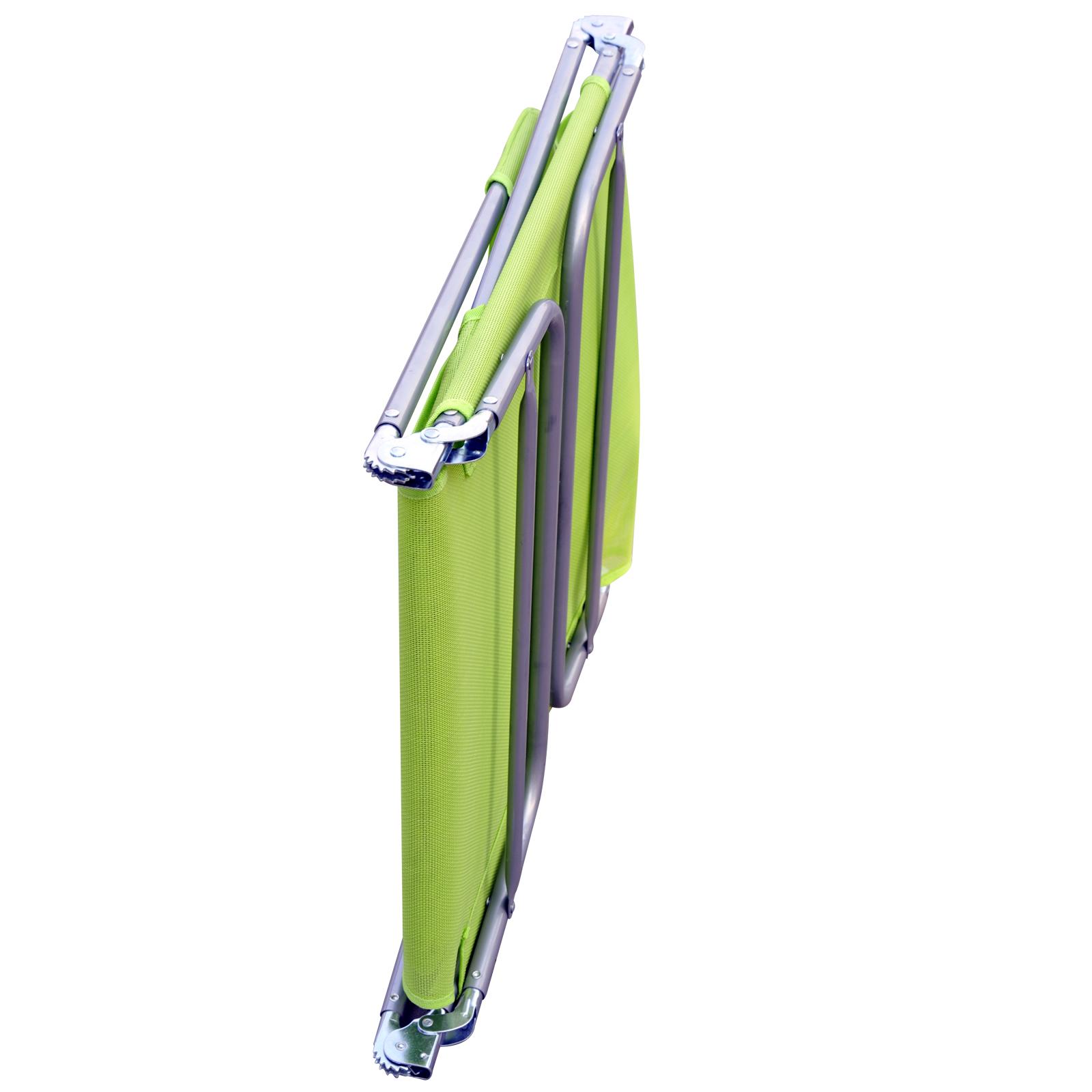 01 0335g(7) - Tumbona Inclinable de Acero Plegable con Almohada Playa Piscina Varios Colores