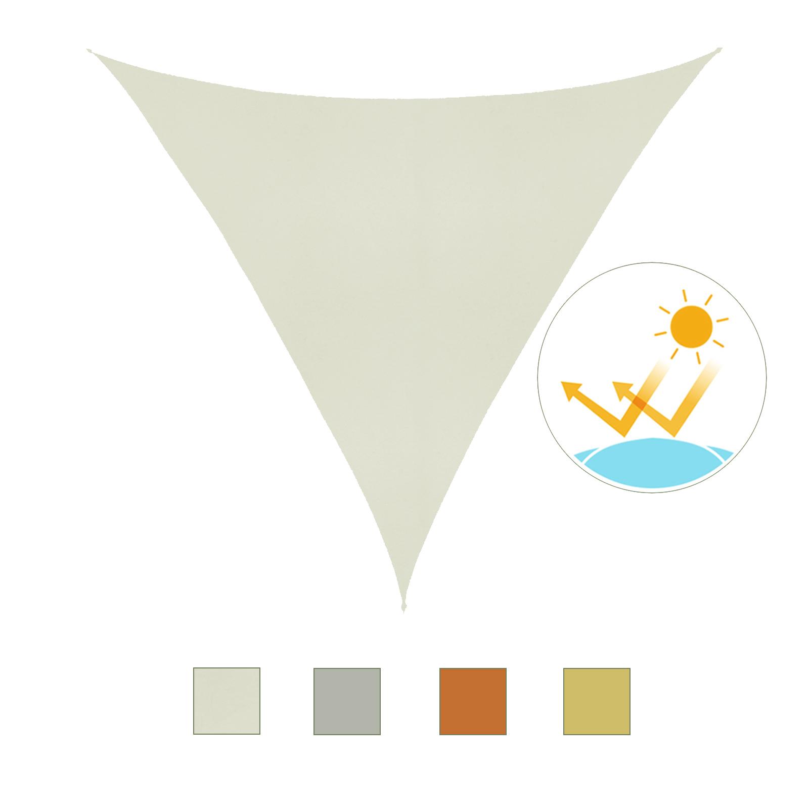 Toldo-Vela-Sombrilla-Parasol-Triangulo-Tejido-de-Poliester-160g-m2-Jardin-Playa miniatura 10