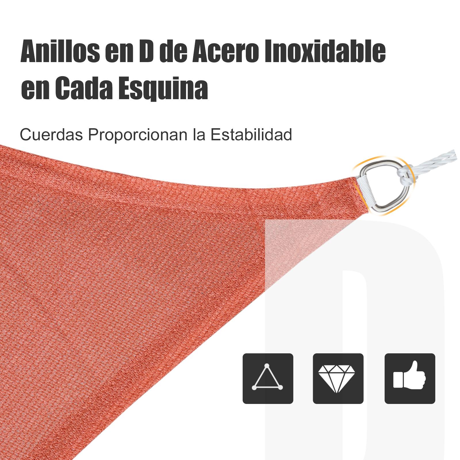 Toldo-Vela-Sombrilla-Parasol-Triangulo-Tejido-de-Poliester-185-g-m-Jardin-Playa miniatura 27