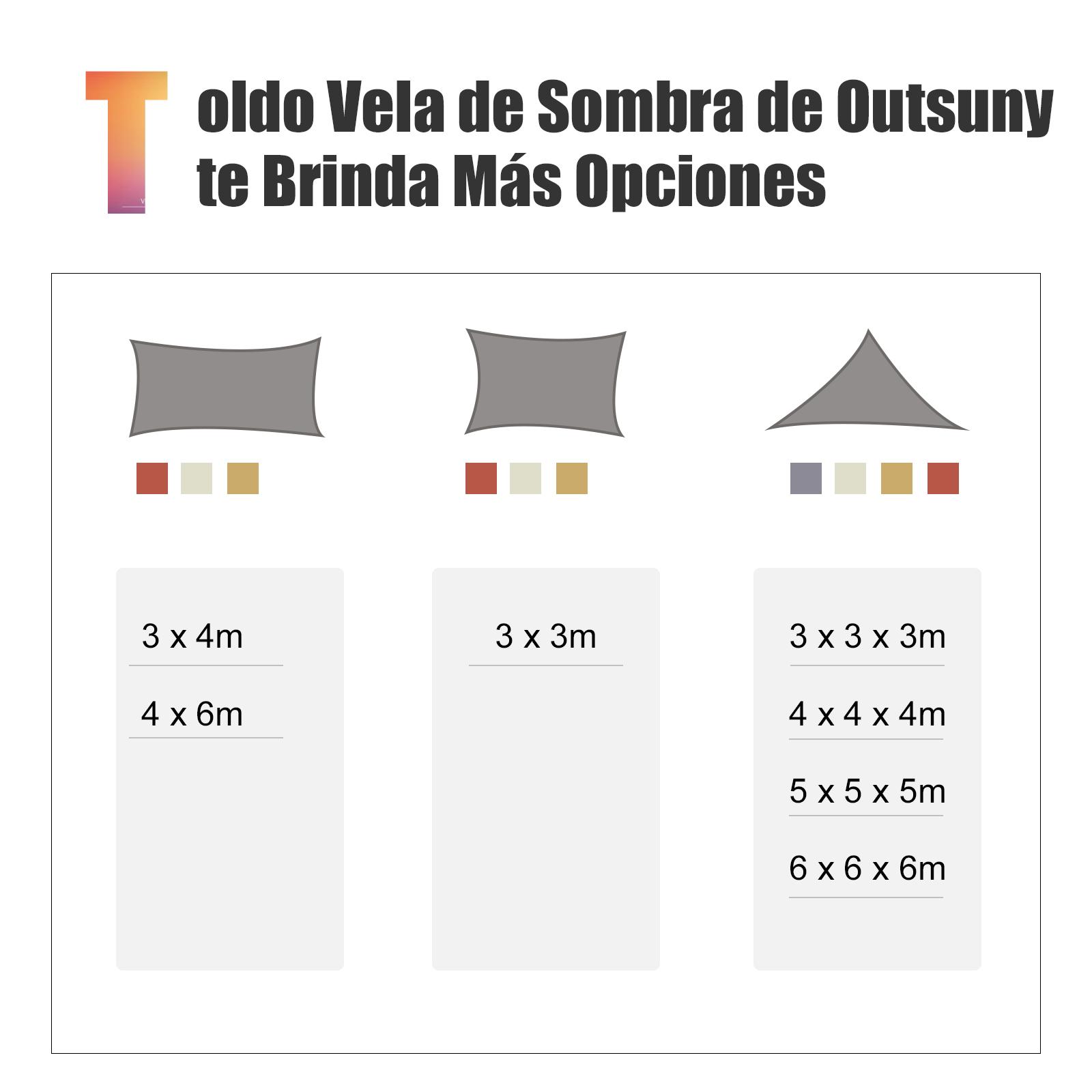 Toldo-Vela-Sombrilla-Parasol-Triangulo-Tejido-de-Poliester-160g-m2-Jardin-Playa miniatura 27