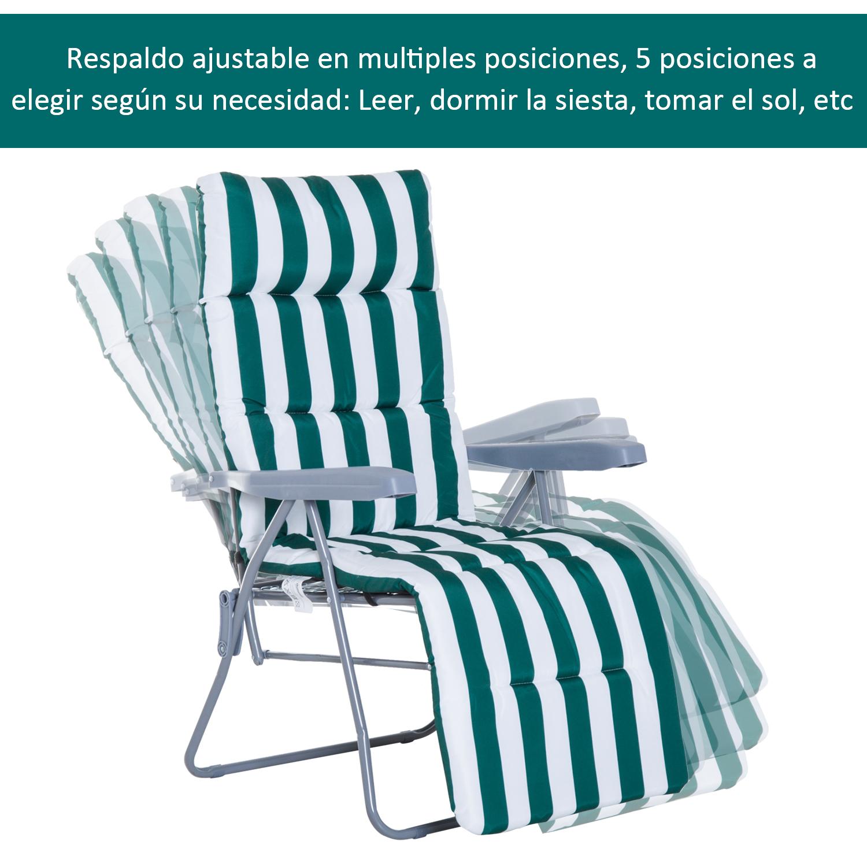 Tumbonas-2Pack-Acero-Plegable-Inclinable-Acolchado-Playa-Camping-Pack-2-Tumbonas miniatura 15