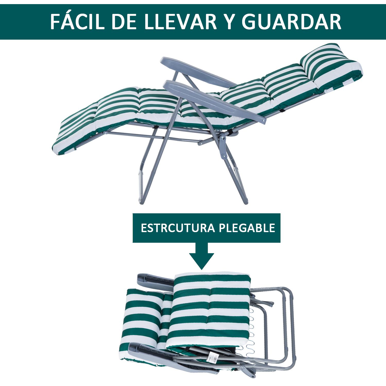 Tumbonas-2Pack-Acero-Plegable-Inclinable-Acolchado-Playa-Camping-Pack-2-Tumbonas miniatura 16