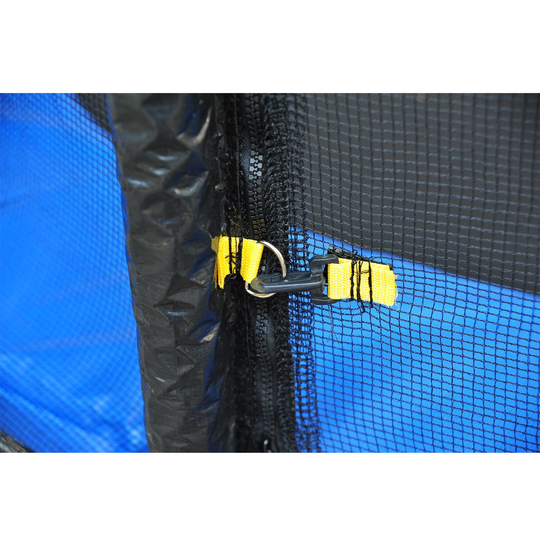 Red-de-Seguridad-Pared-Protectora-Cama-Elastica-Trampolin-Redonda-6-8-10-Barras miniatura 9