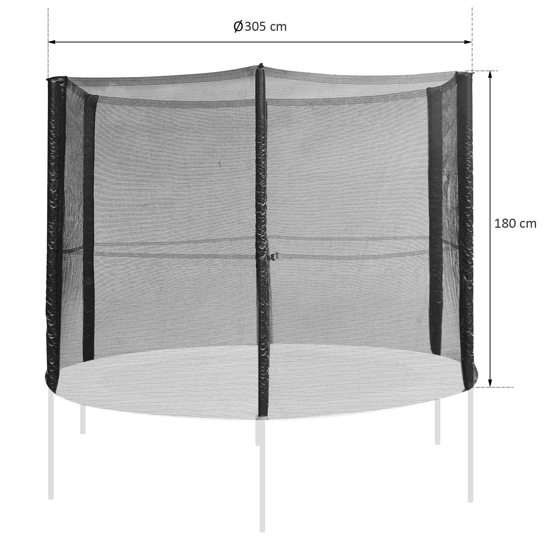 Red-de-Seguridad-Pared-Protectora-Cama-Elastica-Trampolin-Redonda-6-8-10-Barras miniatura 16