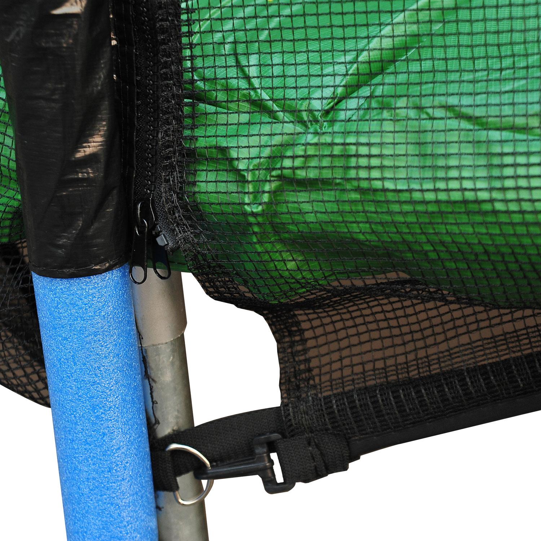 Red-de-Seguridad-Pared-Protectora-Cama-Elastica-Trampolin-Redonda-6-8-10-Barras miniatura 26