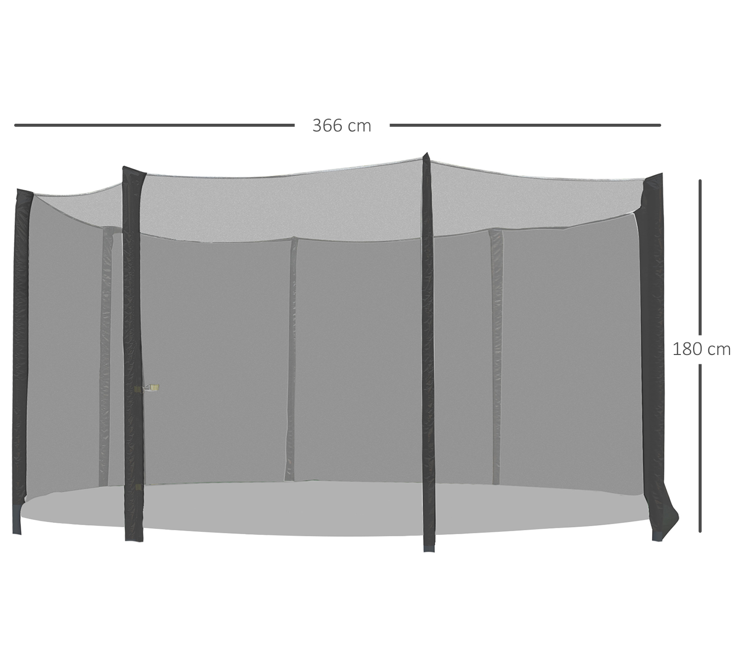 Red-de-Seguridad-Pared-Protectora-Cama-Elastica-Trampolin-Redonda-6-8-10-Barras miniatura 25