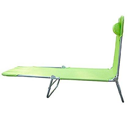 Tumbona-Inclinable-de-Acero-Plegable-con-Almohada-Playa-Piscina-Varios-Colores miniatura 36