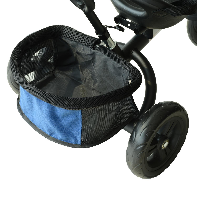 3-EN-1-Triciclo-para-Ninos-18-Meses-Triciclo-con-Pedales-Capota-Barra-de-Padres miniatura 13