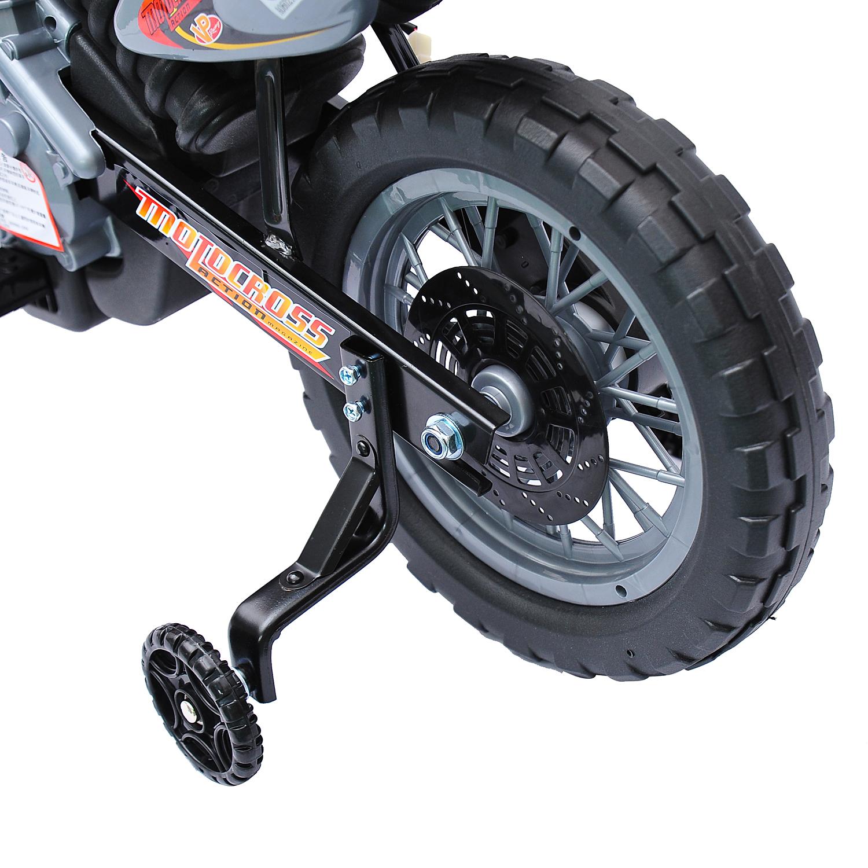 Moto-Electrica-Infantil-Bateria-Recargable-6V-Ninos-3-Anos-Cargador-Ruedas-Apoyo miniatura 18