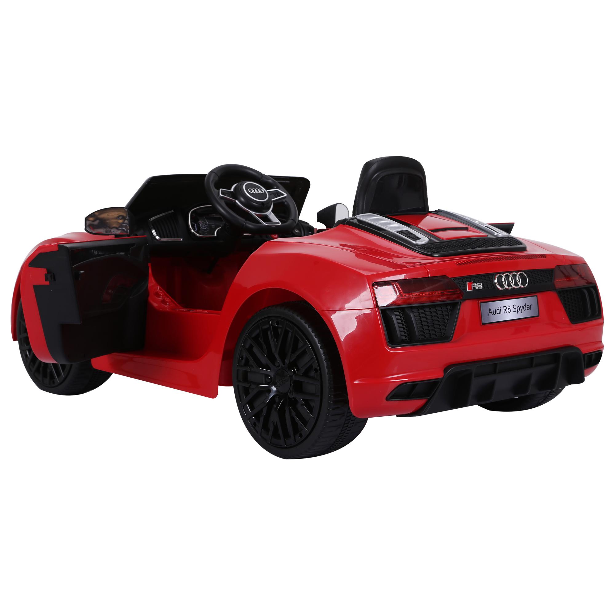 Coche-Electrico-para-Nino-3-8-Anos-Audi-R8-Bateria-12V-Control-Remoto-Carga-30kg miniatura 22