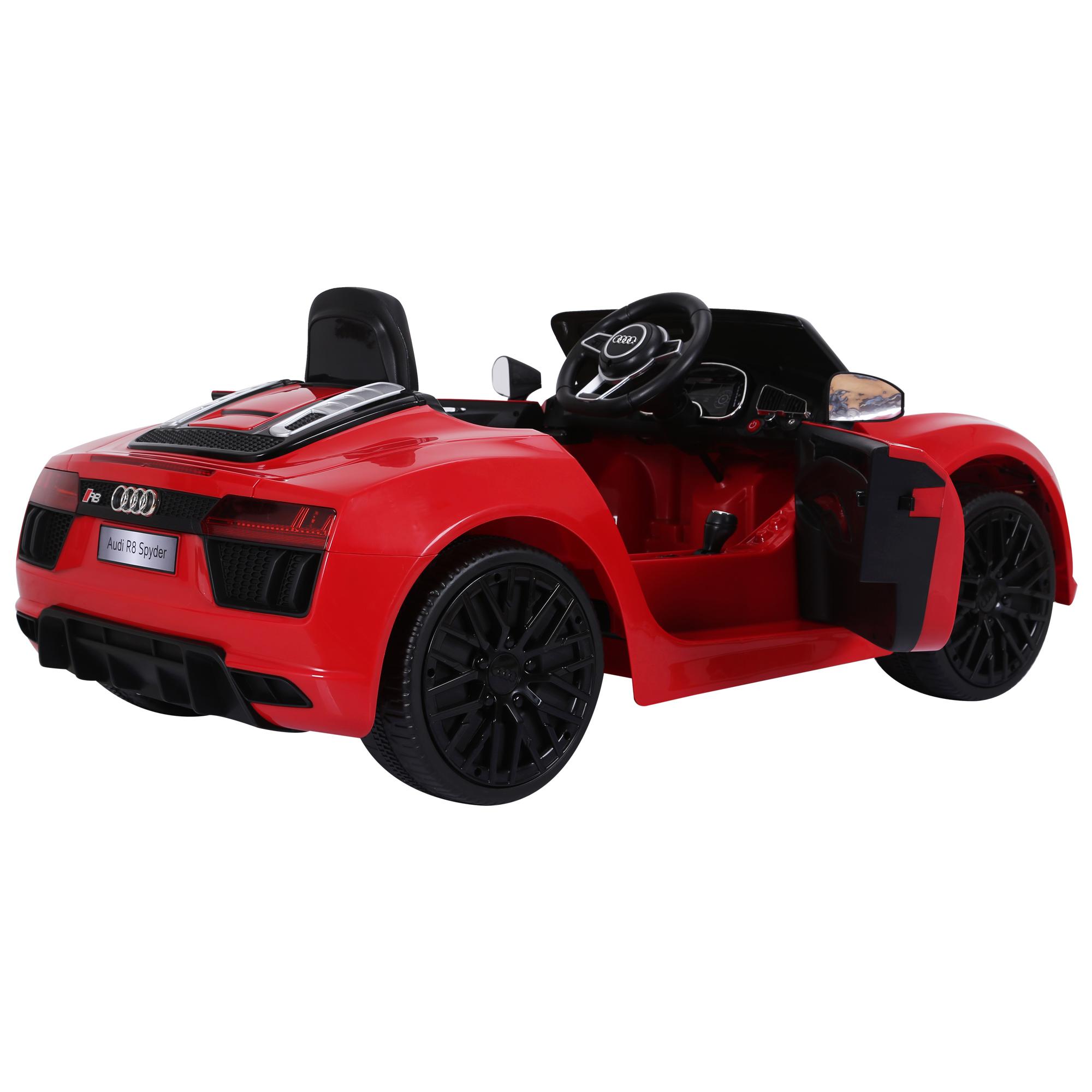 Coche-Electrico-para-Nino-3-8-Anos-Audi-R8-Bateria-12V-Control-Remoto-Carga-30kg miniatura 24
